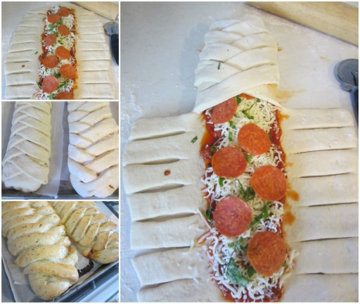 How To Make Yummy Braided Pizza Calzones Tutorial & Recipe