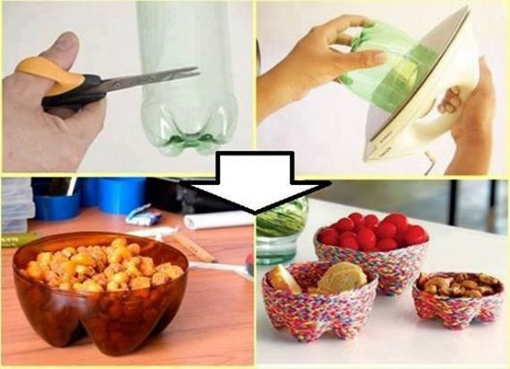 How to recycle plastic bottles into candy bowl step by step diy tutorial instructions