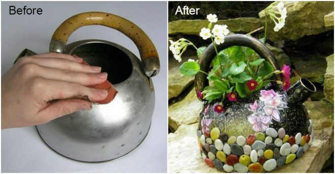 How To Turn Used Kettle Into A Fabulous Planter