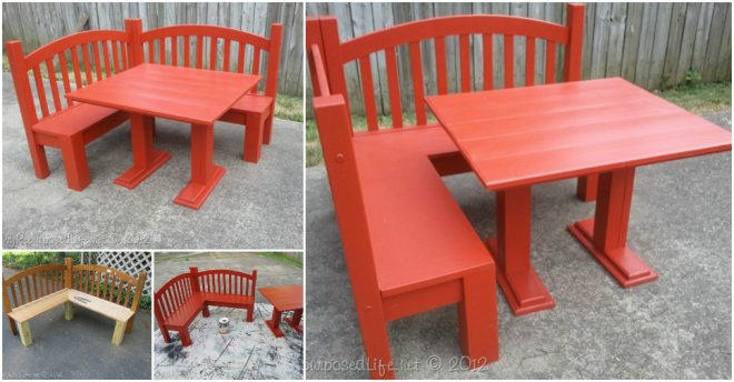 Repurpose A Heardboard Into A Kids Corner Bench