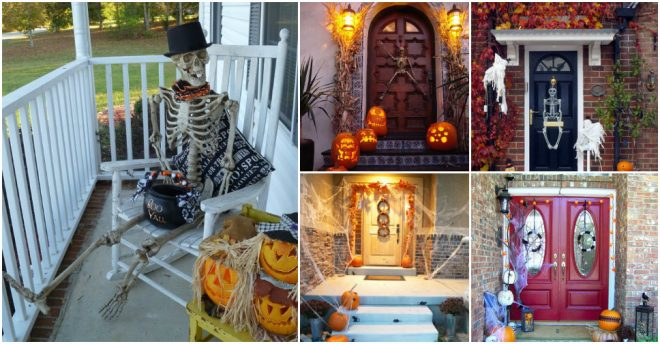 Spooky Halloween Front Door Decor Ideas
