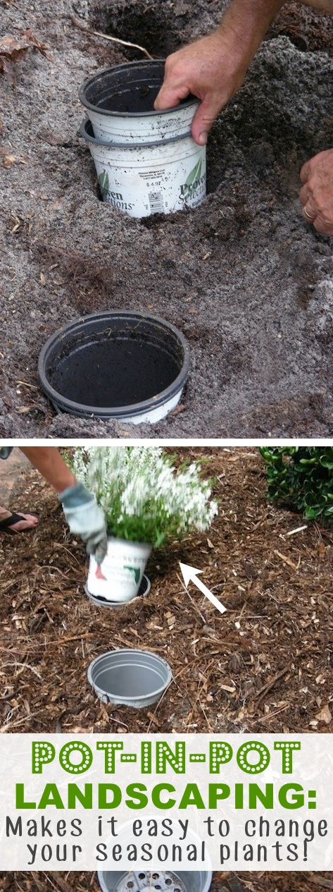 This Genius Pot-in-Pot Landscaping Idea Makes It So Easy To Change Seasonal Plants 2