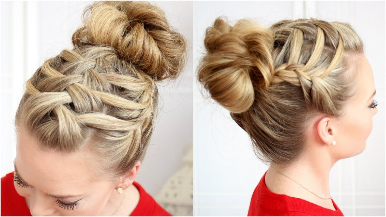 How To Double Waterfall Triple French Braid Hair Style Step By Step Diy  Tutorial Instructions