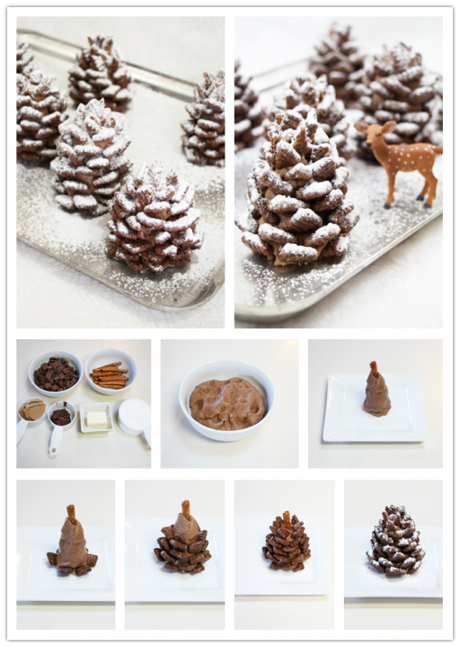 Easy Diy Cake Decorating Ideas : Cooking Classes   Easy Snowy Pinecone Chocolate Cake ...