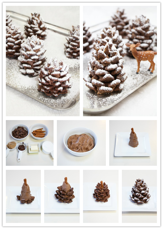 Cake Design Png : Cooking Classes   How To Make Easy DIY Snowy Pinecone ...