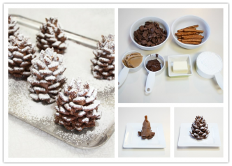 Cooking Classes - How To Make Easy DIY Snowy Pinecone Chocolate Cake Decorating