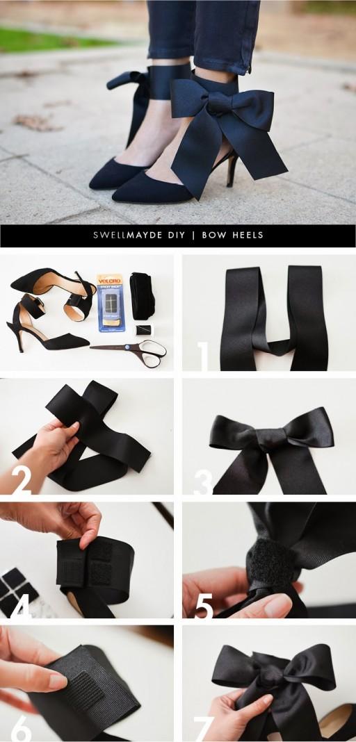 DIY Bow High Heels 1