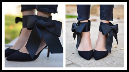 DIY Bow High Heels