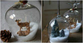DIY Wine Glasses Snow Globe Scones
