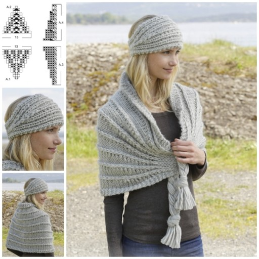 Head Band And Shawl Set Free Knitting Pattern