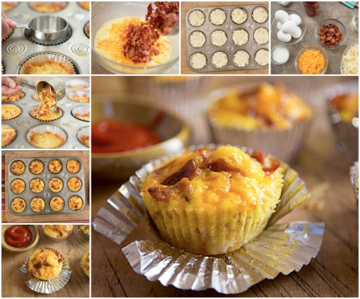 Healthy Breakfast Recipes - Bacon Cupcakes