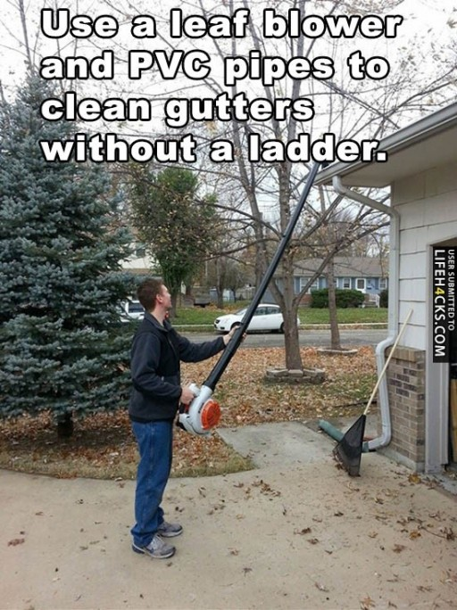 How To Clean Gutters Without A Ladder