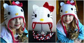 How To Crochet Cute Hello Kitty Hat