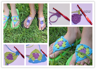 How To Crochet Flip Flops Step By Step Instructions