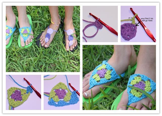 Crocheting Step By Step : How To Crochet Flip Flops Step By Step Instructions How To ...