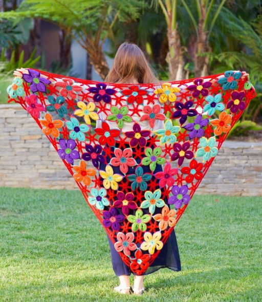 How To Crochet Pretty Flower Motif Shawl How To Instructions