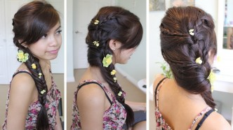 How To Do Fancy Fishtail Braid Hairstyle Tutorial