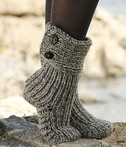 How To Knit Women Boots 2
