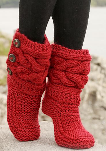 How To Knit Women Boots 3