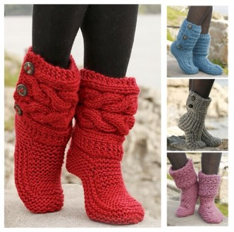 How To Knit Women Boots