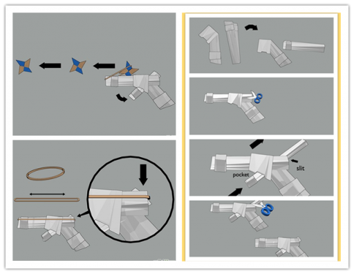 How to Make a Paper Gun That
