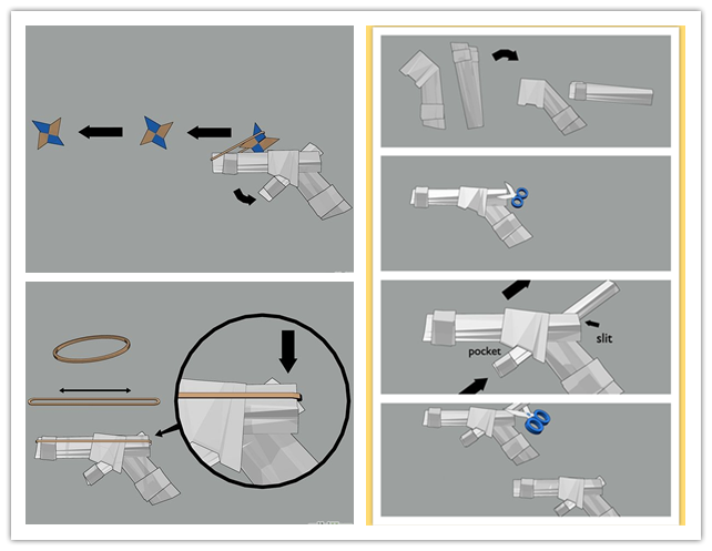 How To Make A Paper Gun Instructions Picture of paper gun sniper