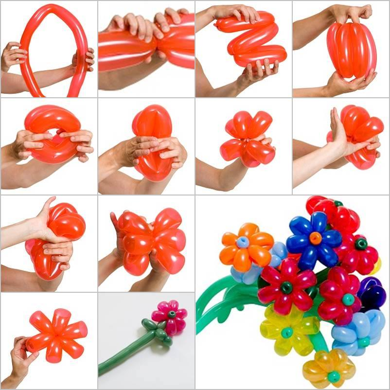 How to make balloon flower bouquet how to instructions - Hacer flores con globos ...