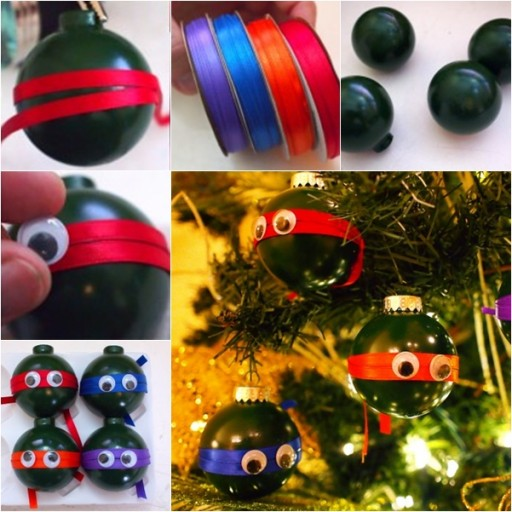 How To Make Cute Ninja Turtle Ornaments