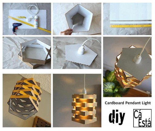 How To Make DIY Cardboard Pendant Light
