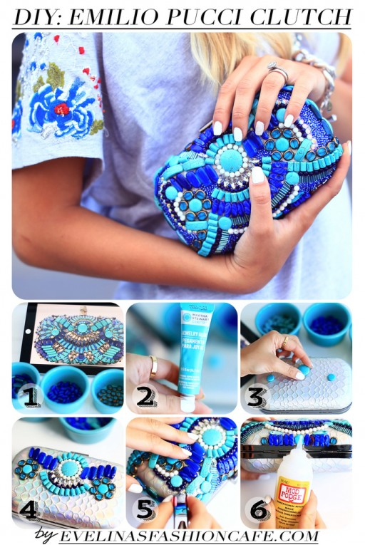 How To Make DIY Emilio Pucci Clutch