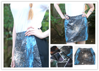 How To Make DIY Galaxy Print Mini Skirt