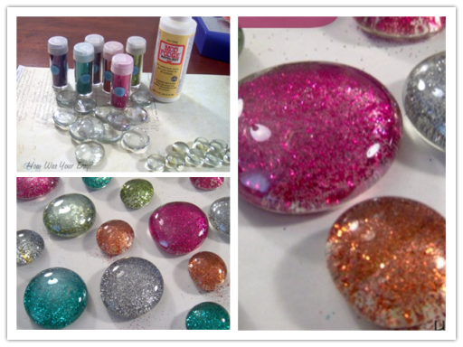 How To Make DIY Glitter Glass Marble Magnets