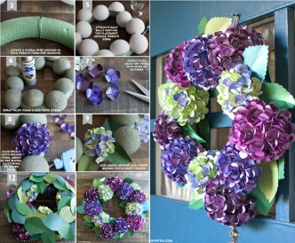 How To Make DIY Paper Hydrangea Wreath