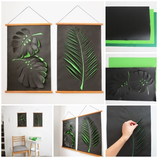 How To Make Wall Decor With Paper : How to make diy paper wall art instructions