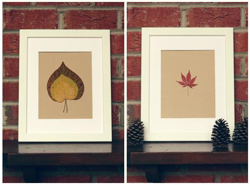 How To Make Pressed Leaf Home Decorations 1