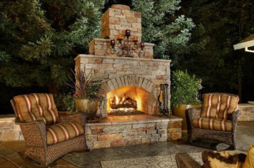 ... Garden Design With Outdoor Fireplace Designs And DIY Ideas How To  Instructions With Climbing Plants For