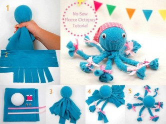 Adorable No-Sew Fleece Octopus Craft Tutorial