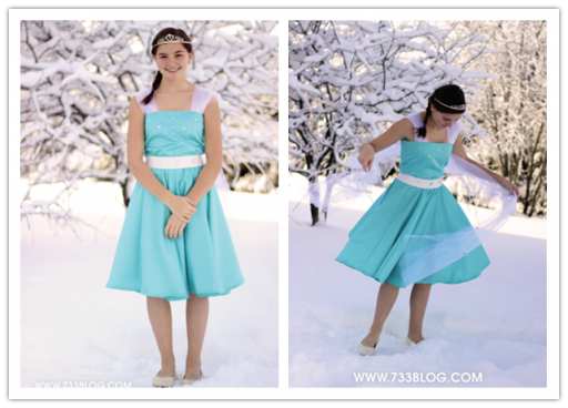 DIY Frozen Sparkle Princess Elsa Doll Inspired Dress