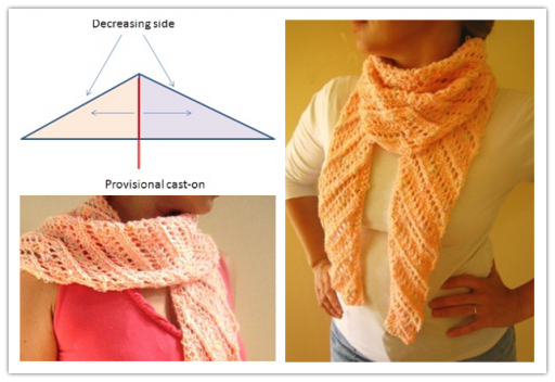 Diagonal Baktus Lace Scarf Free Knitting Tutorial