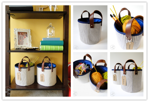 How To Make DIY Fabric Leather Storage Baskets