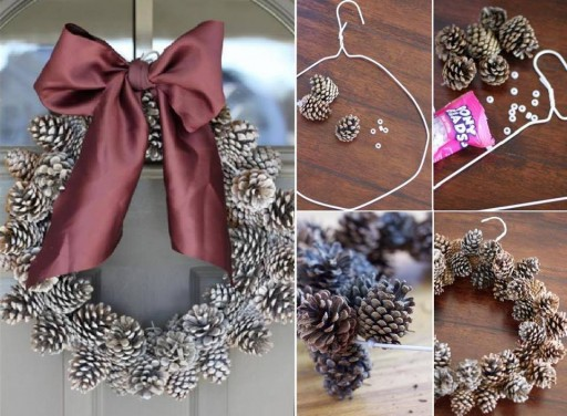How To Make DIY Pinecone Wreath