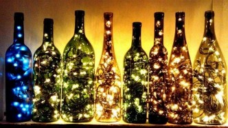 How To Make Outdoor Lighting With Wine Bottles 1