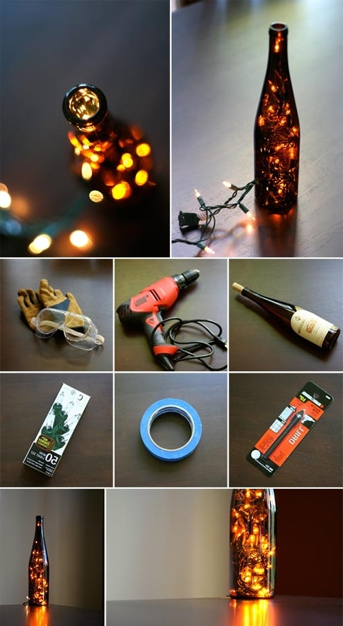 How To Make Outdoor Lighting With Wine Bottles 2