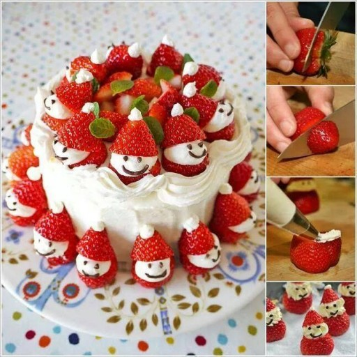 How To Make Strawberry Santa Cakes