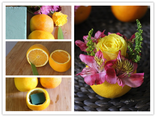 How To Make Valencia Orange Vase Flower Centerpieces 1