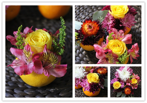 How To Make Valencia Orange Vase Flower Centerpieces