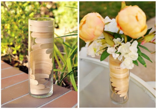 Popsicle stick crafts - How To Make Wooden Helix Vase