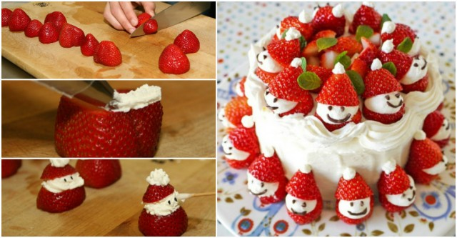 Strawberry Santa Cakes
