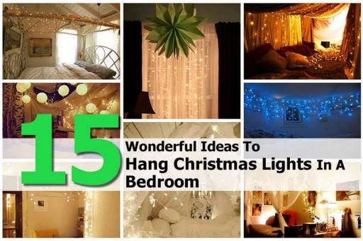 15 creative ways to hang christmas lights in bedroom how