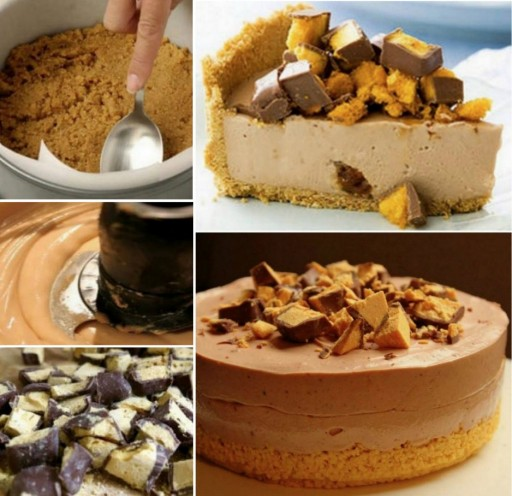 Chocolate Honeycomb Cheesecake Recipe